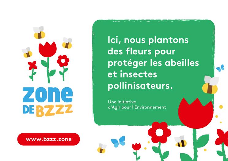 pancarte pour signaler votre Zone de BZZZ